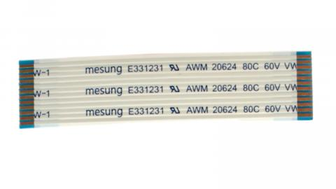 Кабель FFC 55mm x 12p x С x1.0x(3/3+8/8)x0.1x0.7mm